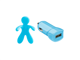 Celly Charger & Car Freshner Bundle Giuliocesare Γαλάζιο