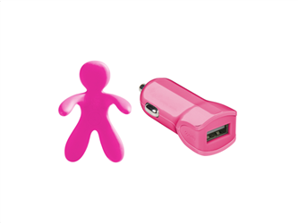 Celly Charger & Car Freshner Bundle Giuliocesare Ροζ