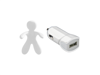 Celly Charger & Car Freshner Bundle Giuliocesare Λευκό