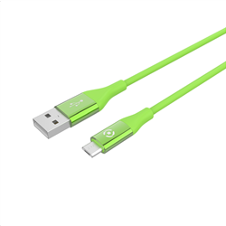Celly Color Data Cable Extra Strong Micro Usb Πράσινο