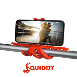 Celly Squiddy Flexible Mini Tripod Red