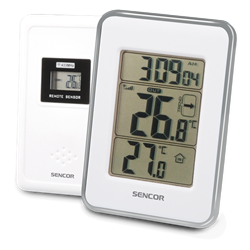 Sencor Wireless Thermometer White SWS 25 WS