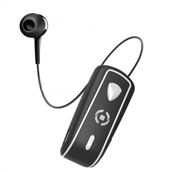 Celly Bluetooth Clip On Retractable Black