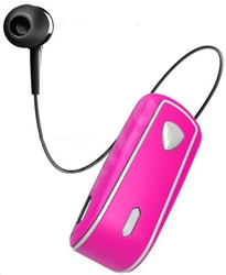 Celly Bluetooth Clip On Retractable Pink