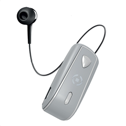 Celly Bluetooth Clip On Retractable Silver