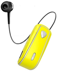 Celly Bluetooth Clip On Retractable Yellow