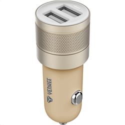 Υenkee Car Charger Usb 2 X 2400 mAh Gold YAC 2048GD