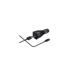Samsung Dual Fast Charge Car Adapter Type C Black