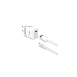 Celly Travel Adapter 2.4A Kit Usb Micro Cable White