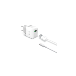 Celly Travel Adapter 2.4A Kit Usb Type -C Cable White