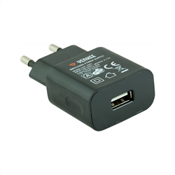 Yenkee Travel Charger Adaptor 1000mA Black YAC 2003BK