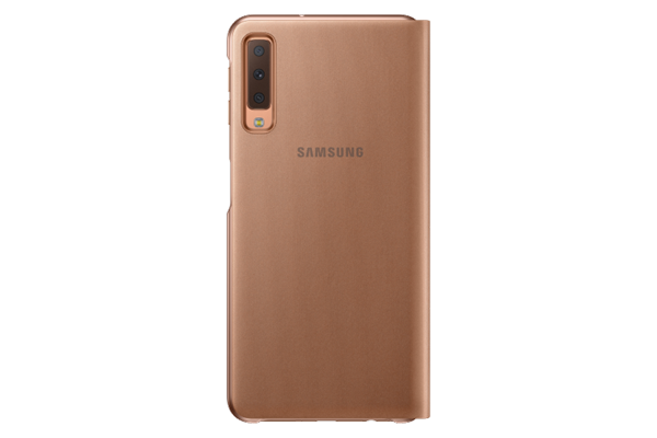 Samsung Flip Wallet Cover Galaxy A7 Χρυσό