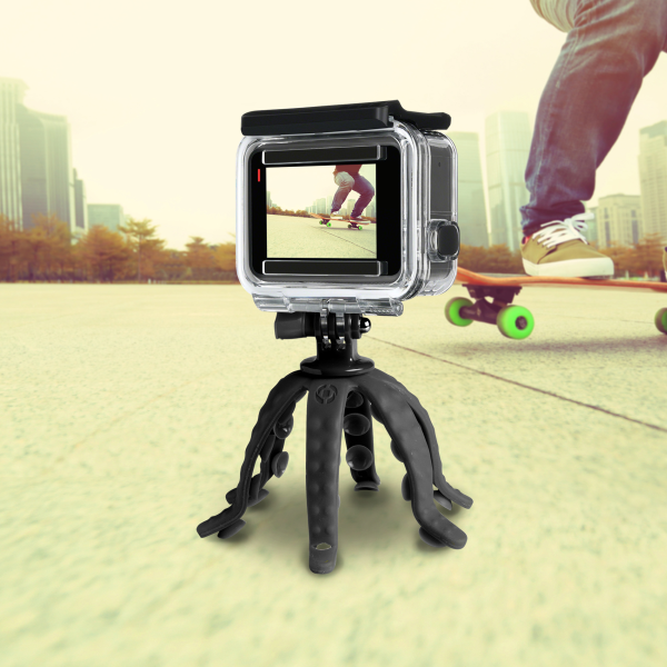 Celly Squiddy Flexible Mini Tripod Μαύρο