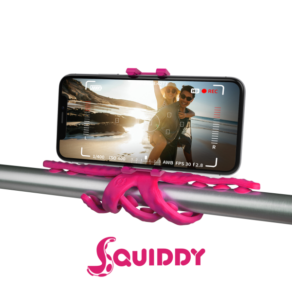 Celly Squiddy Flexible Mini Tripod Ροζ