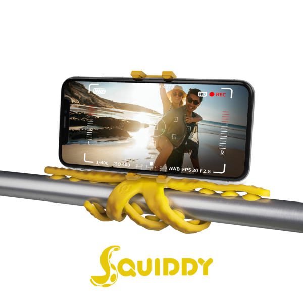 Celly Squiddy Flexible Mini Tripod Κίτρινο