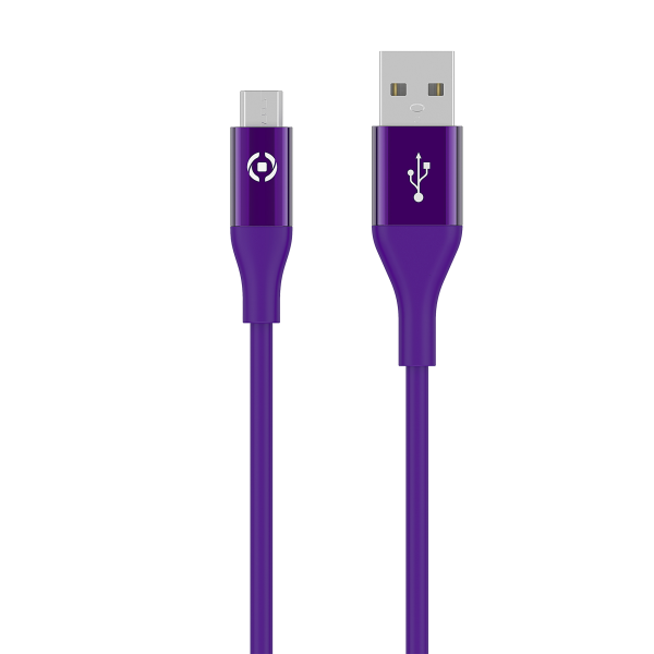 Celly Color Data Cable Extra Strong Micro Usb Μώβ